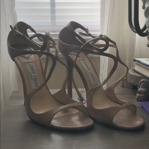 ✨ JIMMY CHOO ✨ Lang 100mm strappy sandals